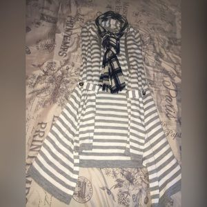 Short sleeve striped cover up